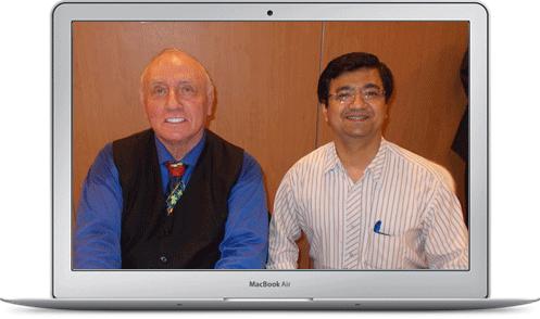 Dr. Richard Bandler with Mr. Amit Pathak